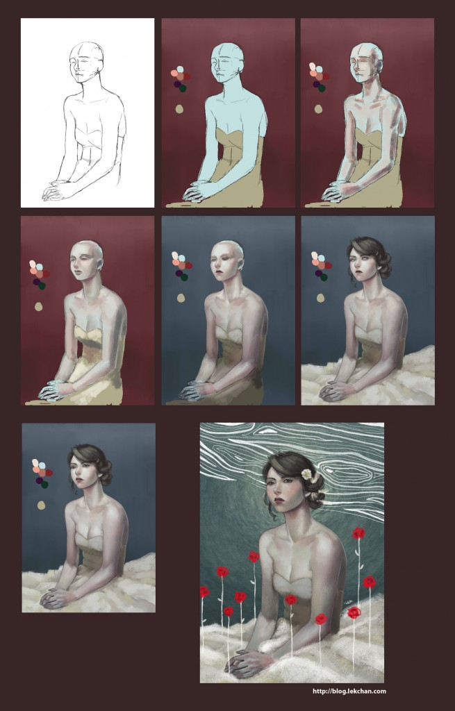 Laura- Painting process