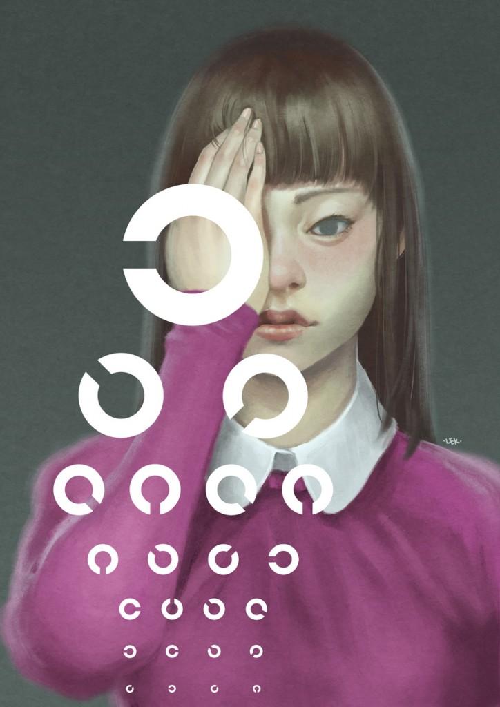 Eye Test, illustration by Lek Chan