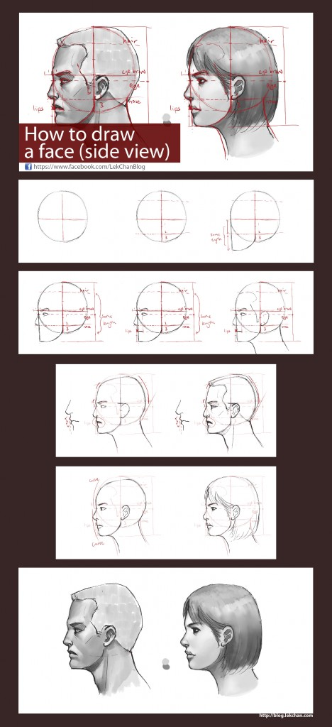 Tutorial: Drawing a Side View Face