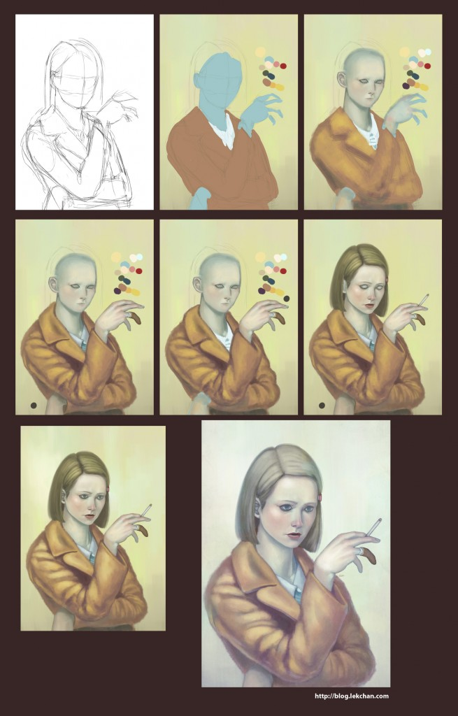 Painting process - Margot Tenenbaum