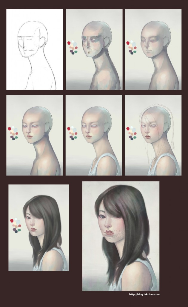 Muffled - Painting Process