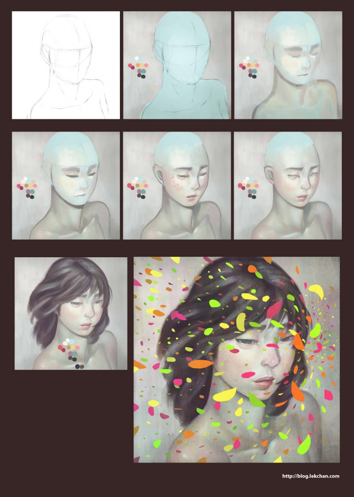 Colours - Painting process