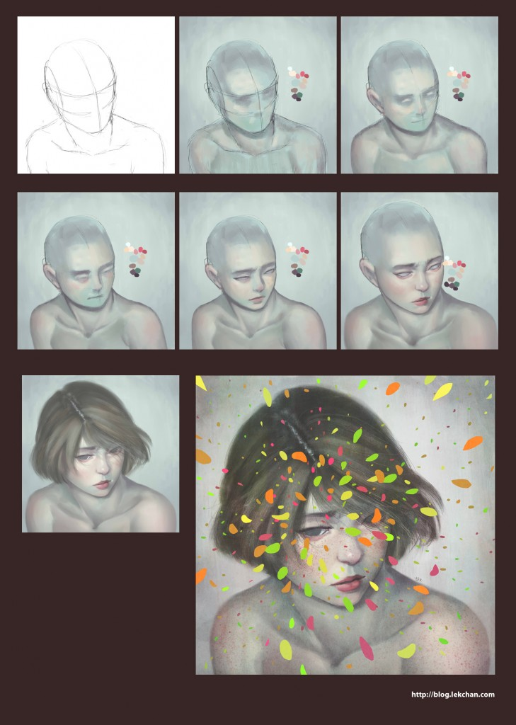 Colours 02- Painting process