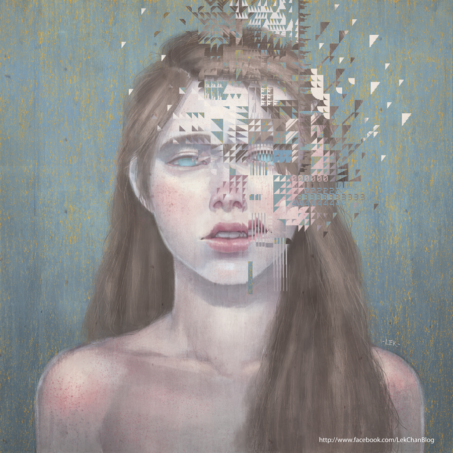 Glitch - Portrait by Lek Chan