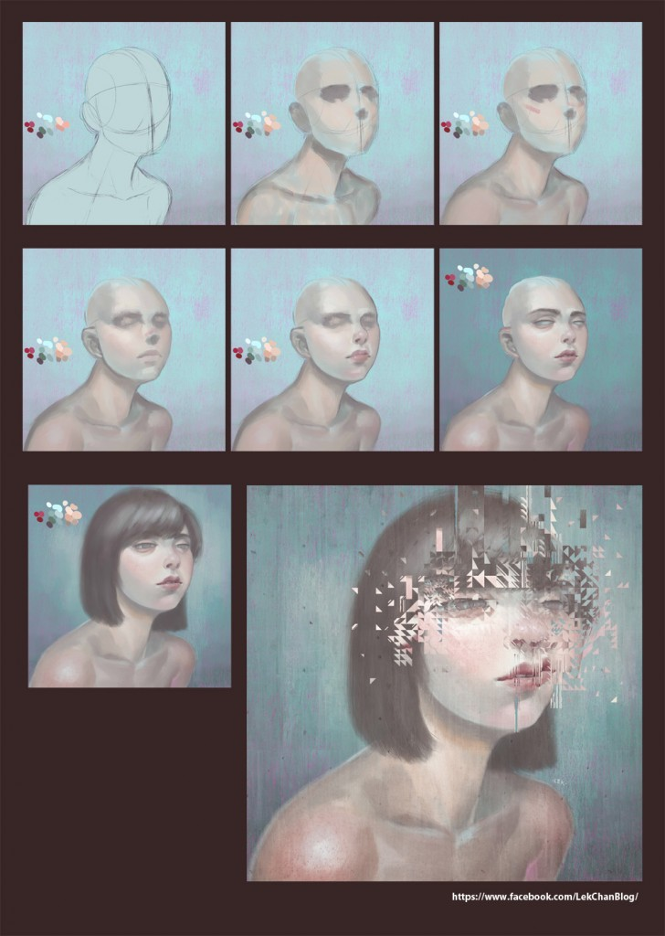 Glitch 02 painting process