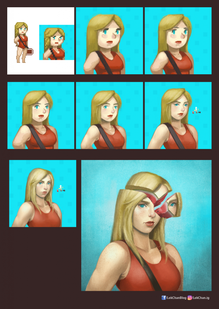 Pamelo - Painting Process