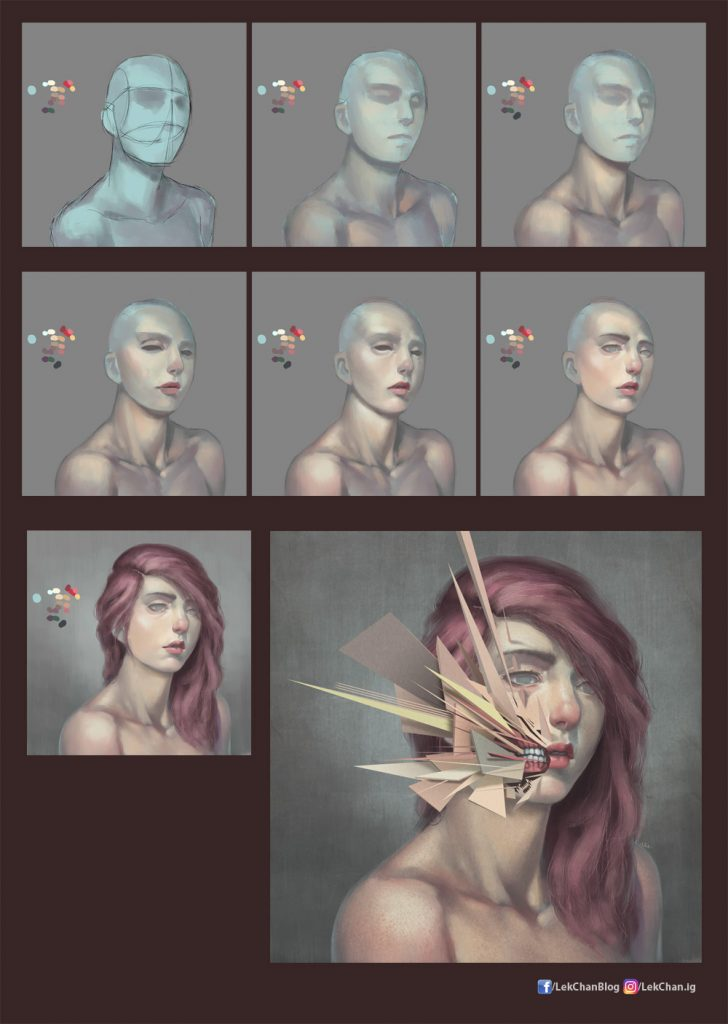 Vertices 02 - painting process